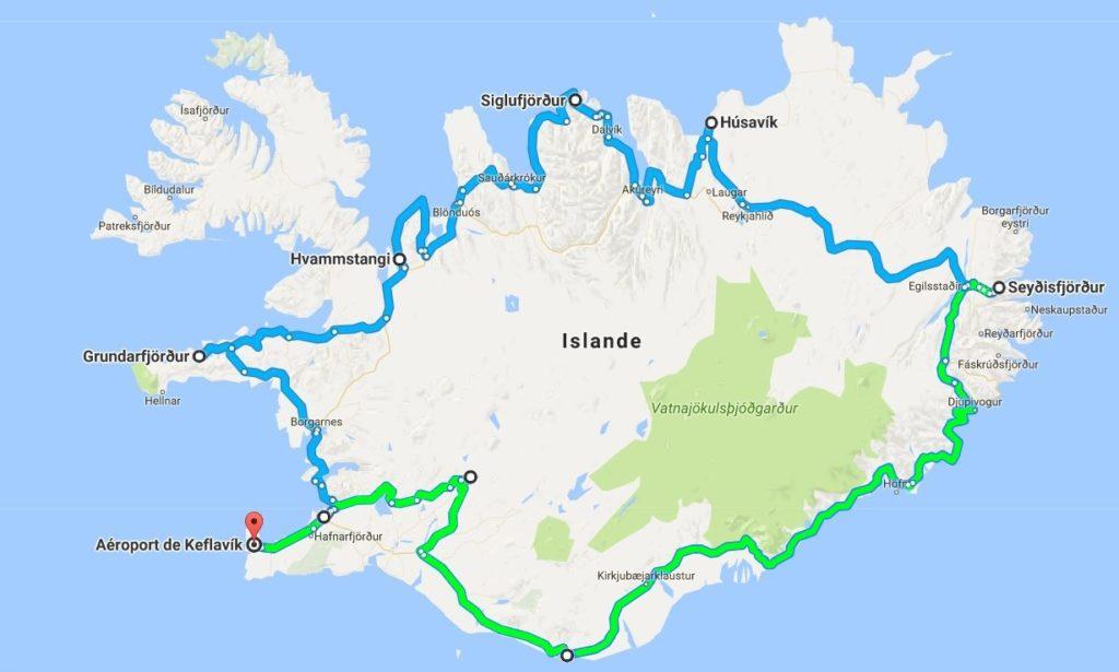 voyage en islande - trajet roadtrip
