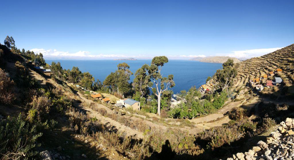 isla del sol vue sur lac titicaca
