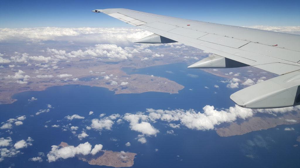 vue du ciel lac titicaca