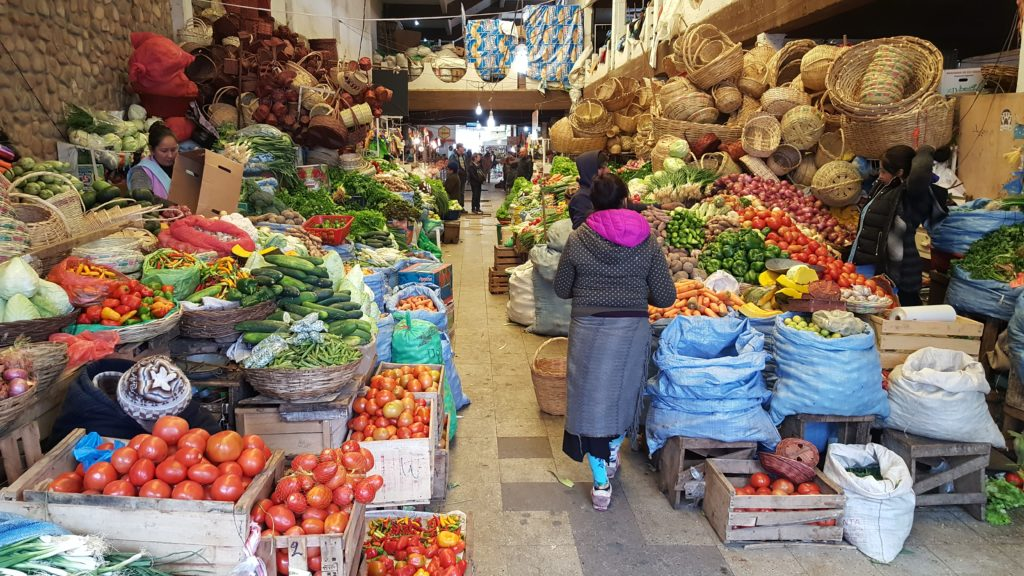 sucre capitale bolivie marché