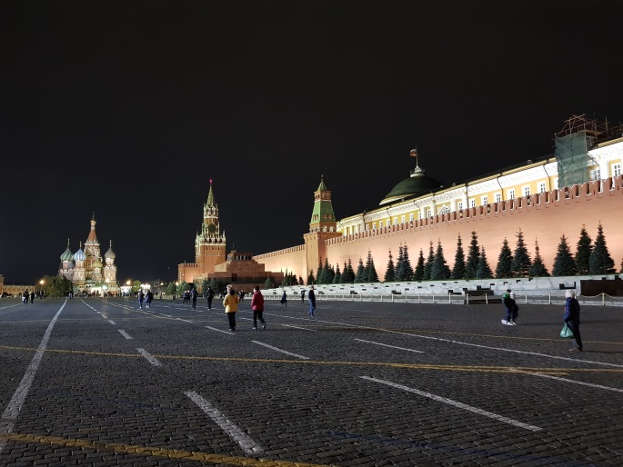 Place Rouge Moscou nuit