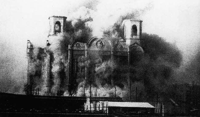 destruction cathedrale christ sauveur moscou