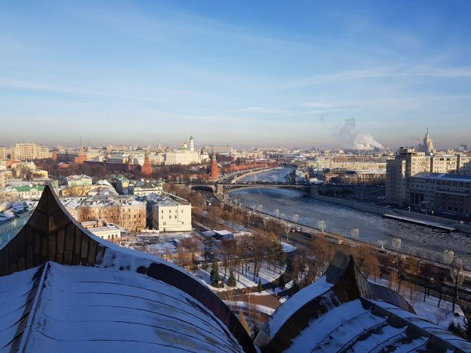 Kremlin depuis Christ Sauveur Moscou
