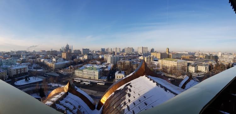 Vue panoramique Cathedrale Christ Sauveur Moscou