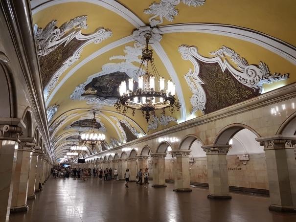Plafond métro Moscou