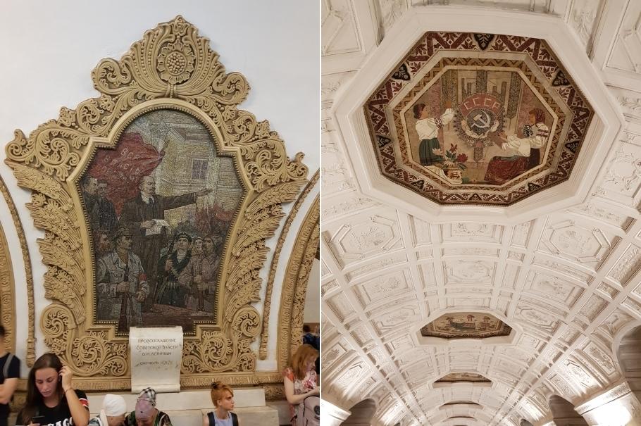 Mosaique Métro Moscou