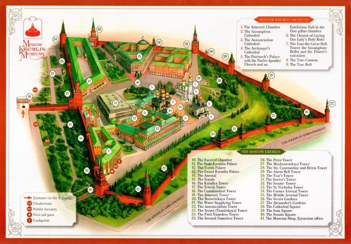 Plan Kremlin Moscou
