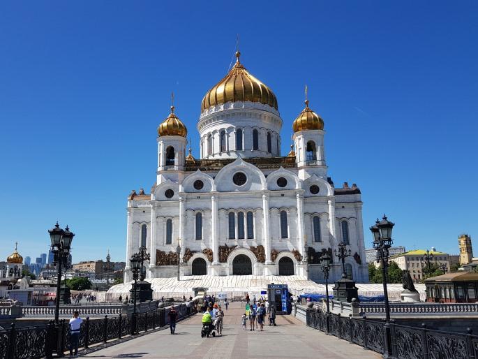 Cathedrale Christ Sauveur Moscou pont