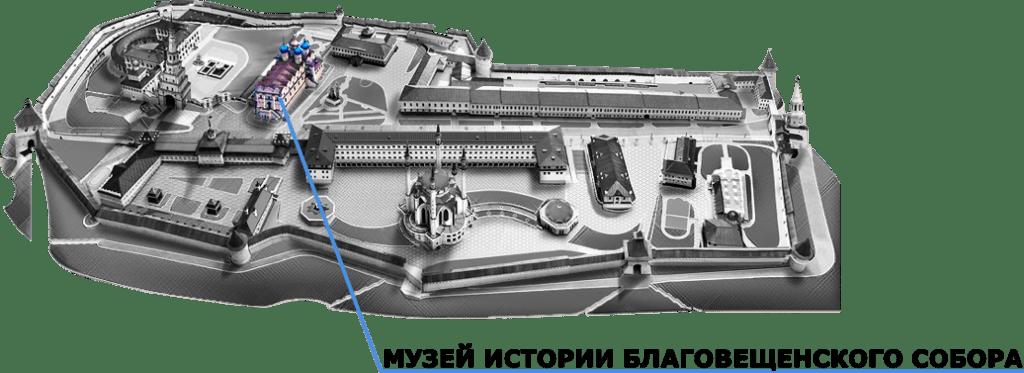 Cathédrale annonciation Kazan plan