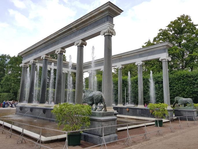 Fontaine des lions peterhof