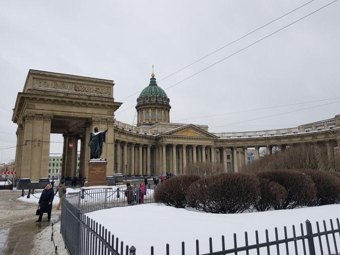 Colonnades cathédrale notre-dame-de-kazan saint pétersbourg