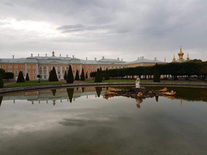 Fontaine vue Palais de Peterhof