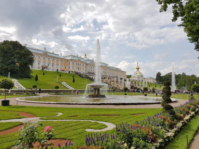 Jardins palais peterhof