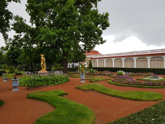 Jardins pavillon Montplaisir Peterhof
