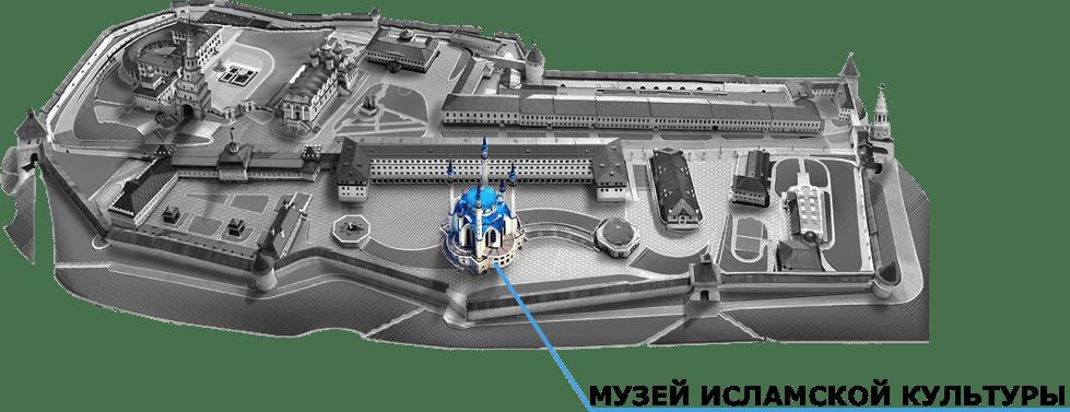 Mosquée Qolsharif Kazan plan