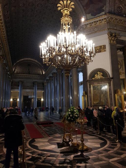 Lustre cathédrale notre-dame-de-kazan saint pétersbourg