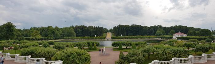 Panorama jardin Marly palais de peterhof