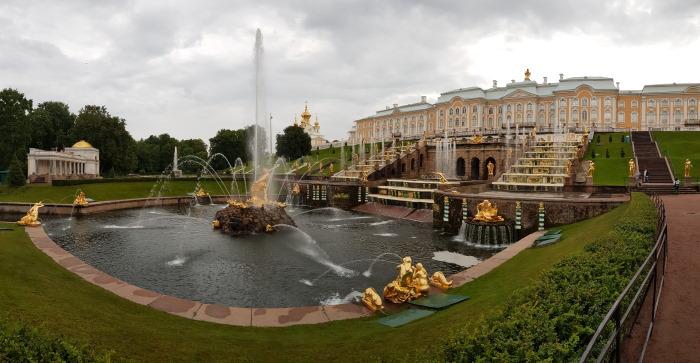 panorama palais peterhof