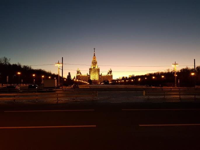 Université Etat Moscou de nuit