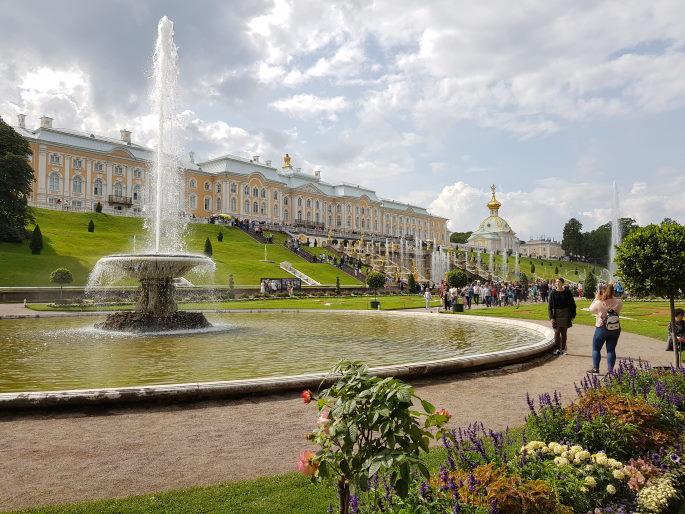 Vue Palais peterhof