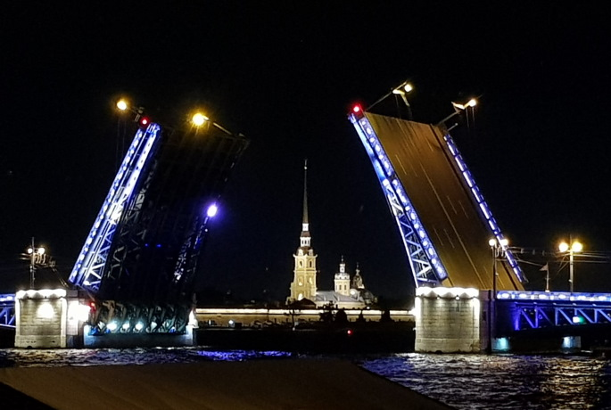 Lever des ponts - Saint Pétersbourg