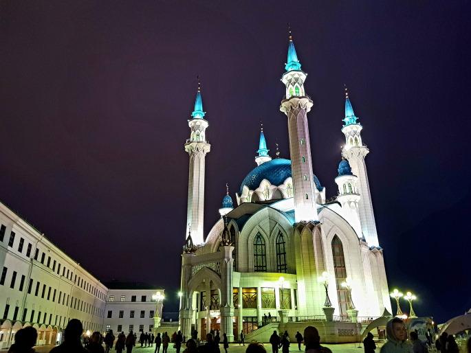 Mosquée Qolhsarif nuit