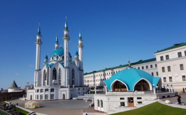 Vue Mosquée Qolsharif Kremlin Kazan