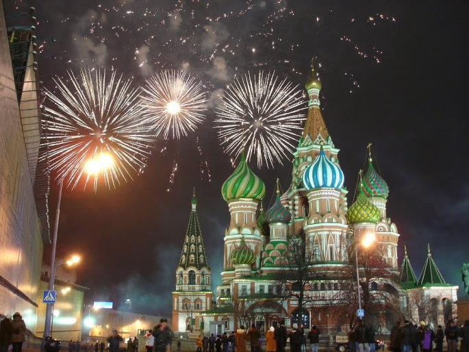 feu artifice nouvel an moscou